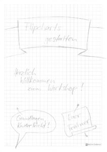 Flipchart vorbereiten - Schritt 1