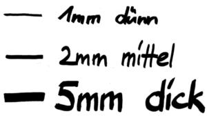 Flipchartmarker Keilspitze - Linienbreiten