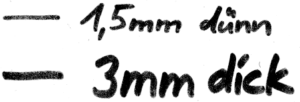 Flipchartmarker Rundspitze - Linienbreiten