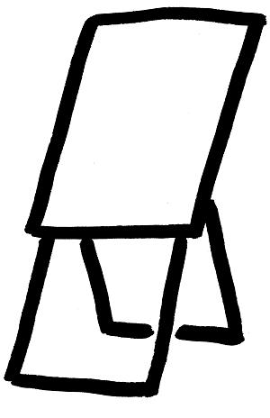 Klappflipchart - Skizze